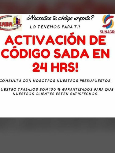 permiso sada , sunagro activacion express, sanidad