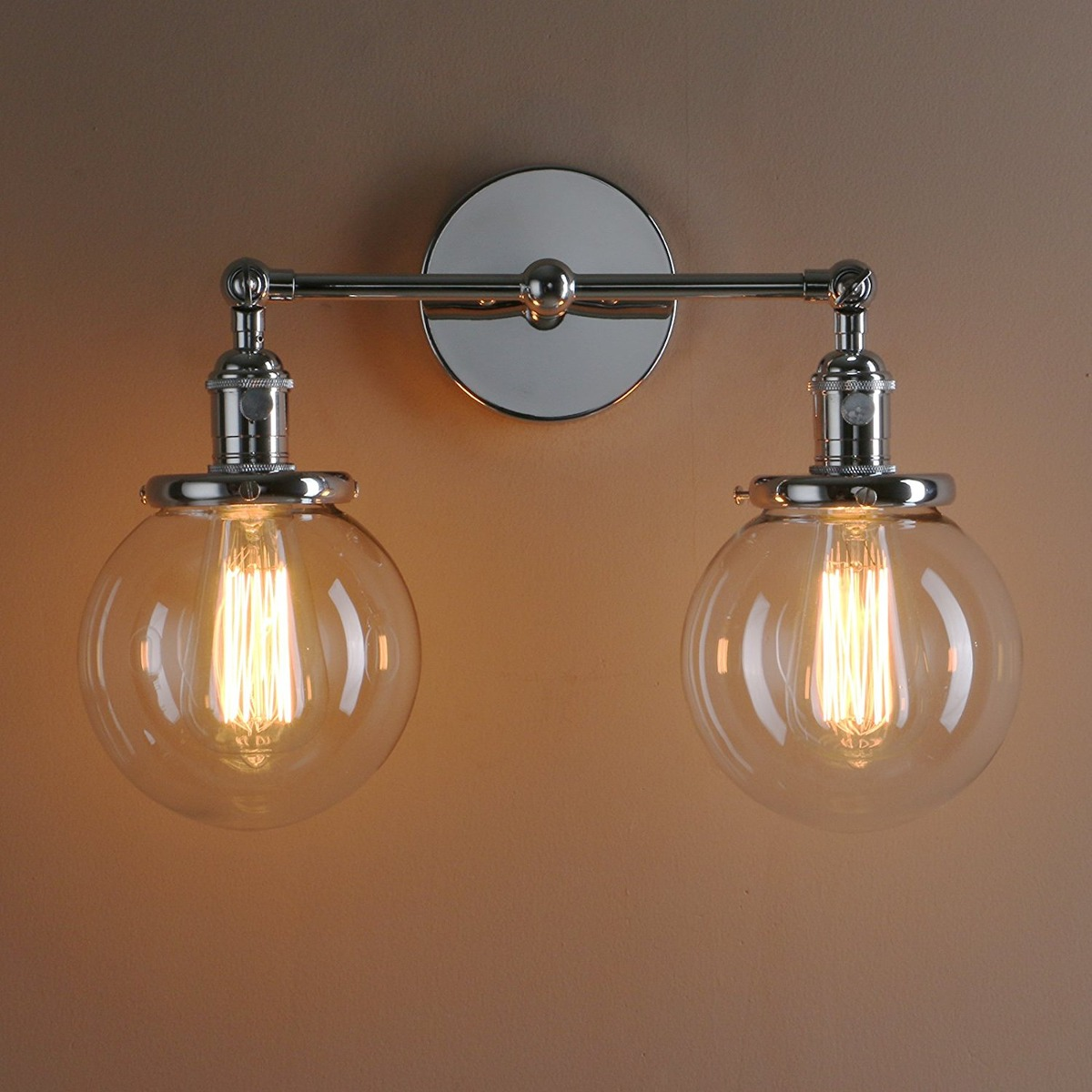 Permo double sconce vintage industrial antique 2 lights wall cargando zoom aloadofball Image collections