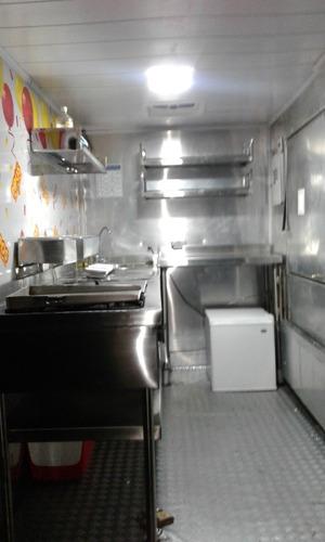 permuto food -truck(trailer) fibra y aluminio equipado