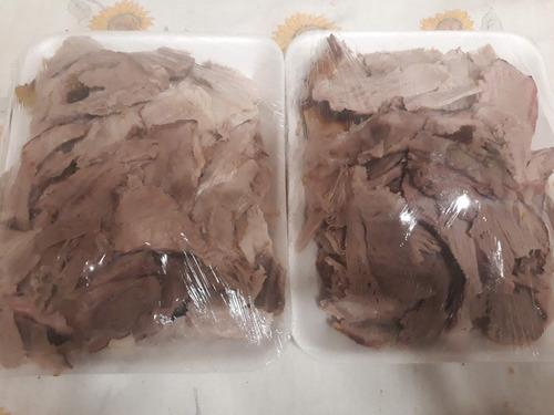pernil cerdo fileteado 1,6 kg + empanaditas+salsas, pan 15 p