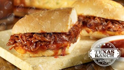 pernil de cerdo ahumado (estilo texas) c/salsas y panes 20pp