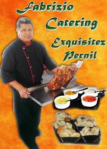 pernil de cerdo figazas + salsas el mejor precio 20/25 pers