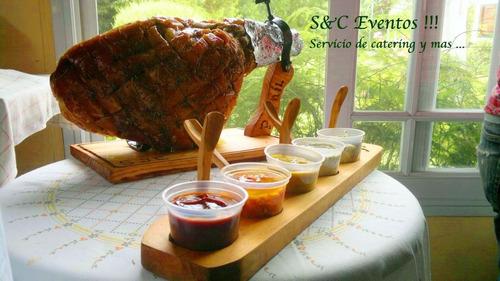 pernil de cerdo (jamón) para 40 personas completo
