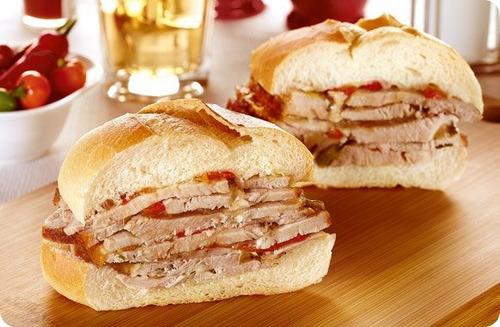 pernil de cerdo + salsas + panes 20 personas envio gratis