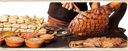 pernil pata de cerdo cocida catering