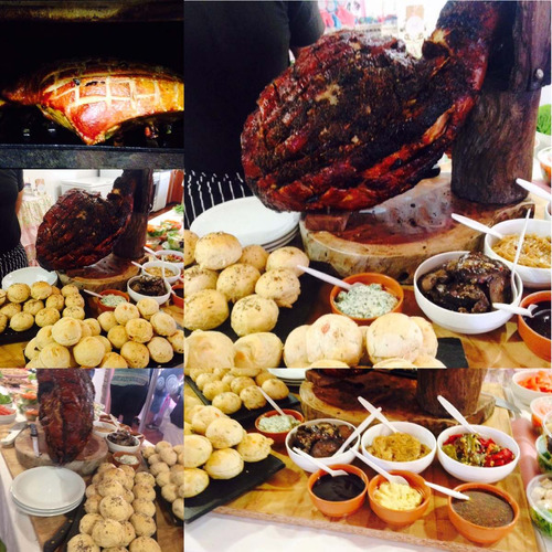 pernil pata grande de cerdo cocida catering (40a60 personas)
