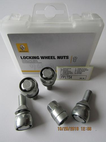 perno antirrobo para ruedas original renault duster/stepway