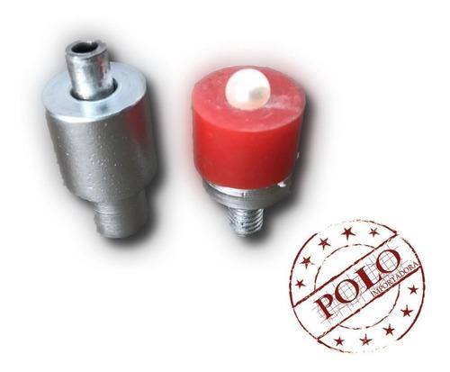 pérolas 10mm + rebites + matriz (aprox. 1200 unid)