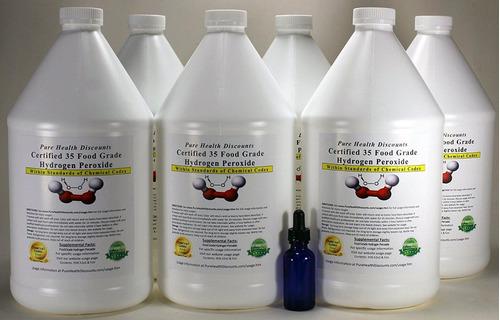 peróxido de hidrógeno de grado alimenticio 35% por galones