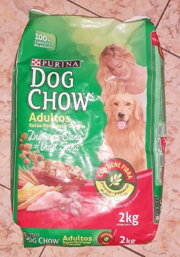 perrarina dog chow 2 y 4 kilos