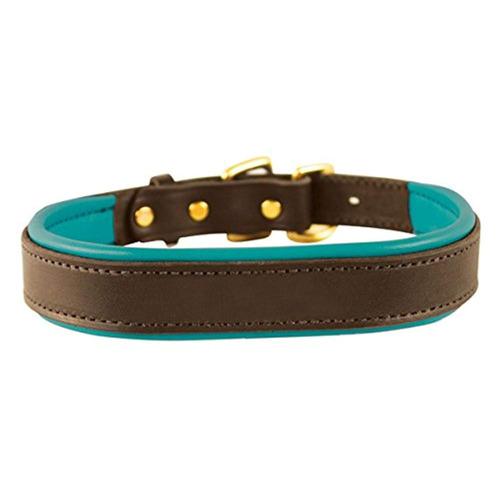 perri s padded leather dog collars in metallic