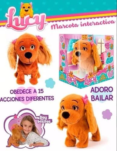 perrita interactiva lucy mascota obediente 15 acciones orig