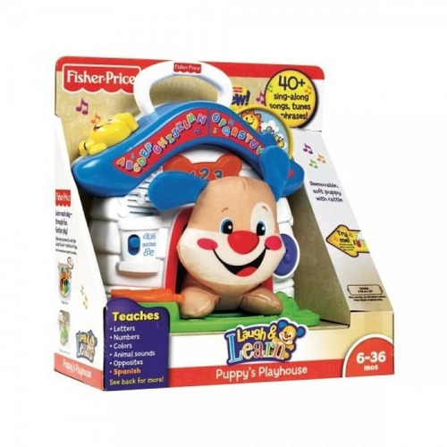 perrito fisher price casita didactica +40canciones bilingue
