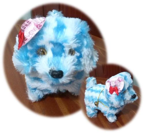 perrito peluche juguete ladra camina brilla ojo mueve cola