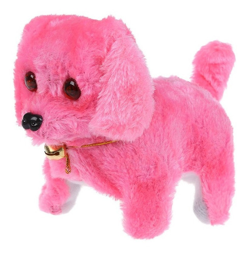 perrito perro peluche camina ladra luz niños juguete regalo