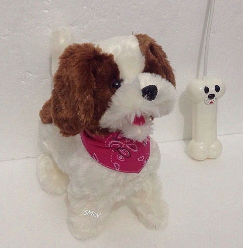 perro cachorro a control remoto inalambrico ladra camina r/c