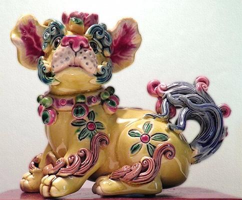 perro de cerámica koji de colección