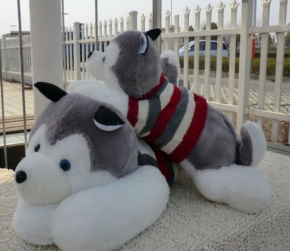 perro de peluche husky de 1 7 metros regalo de cumplea os 1 en mercado libre. Black Bedroom Furniture Sets. Home Design Ideas