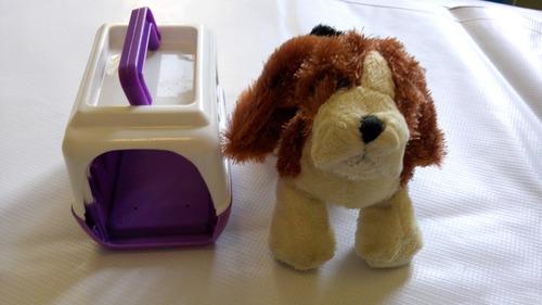 perro de peluche pequeno con bolsa transportadora envio grat