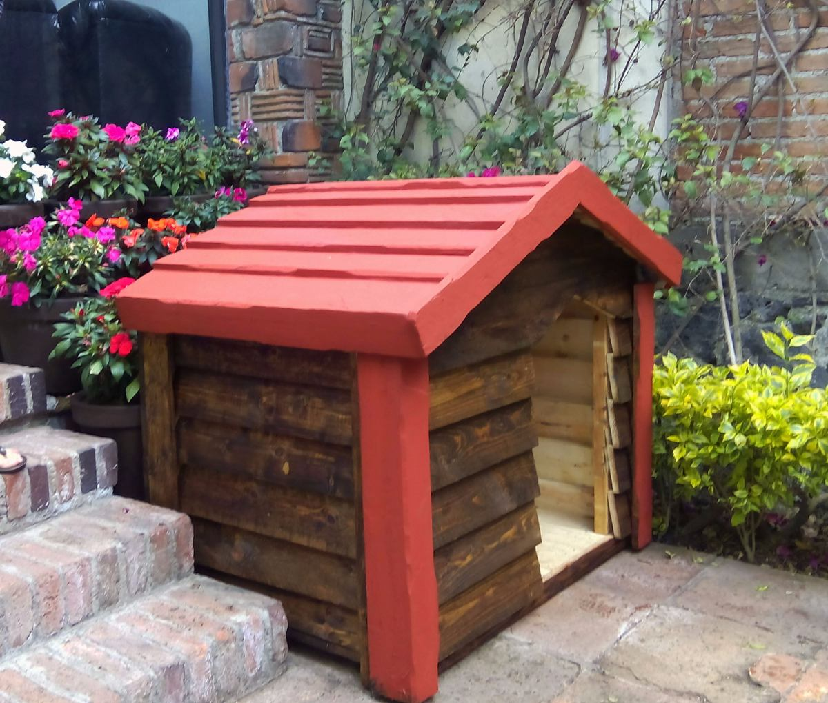 Casa de madera para perro grande impermeabilizada - Madera para casa ...