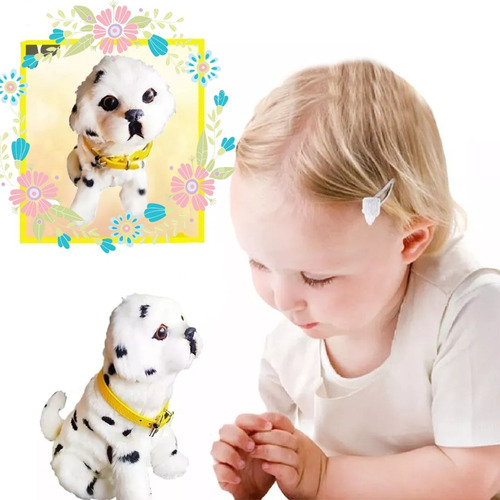 perro peluche niños movimiento juguete didactico ladra lindo