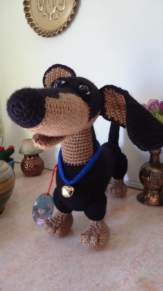 Perro Salchicha Amigurumi, Dachshund Tejido Crochet, 42cm - $ 800,00 ...
