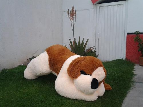 perro san bernardo de peluche gigante 1.55 metros
