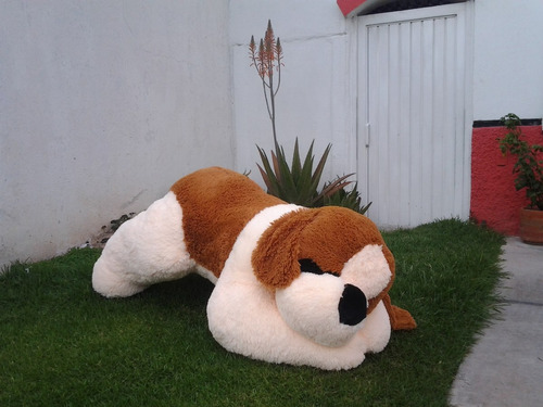 perro san bernardo de peluche gigante 1.70 metros