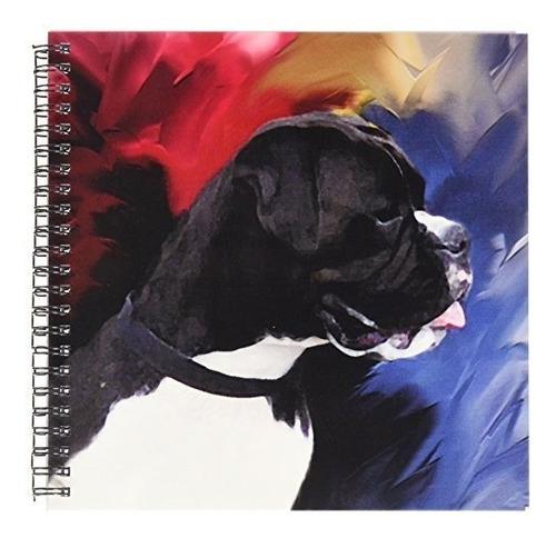 perros boxer  boxeador negro blanco  libro de dibujo