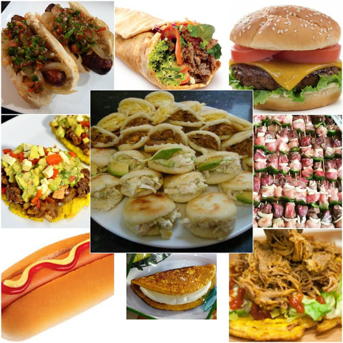 perros calientes hamburguesa cachapa shawarma para fiesta