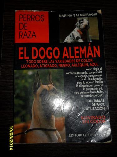 perros de raza. el dogo aleman usado ilustrado color