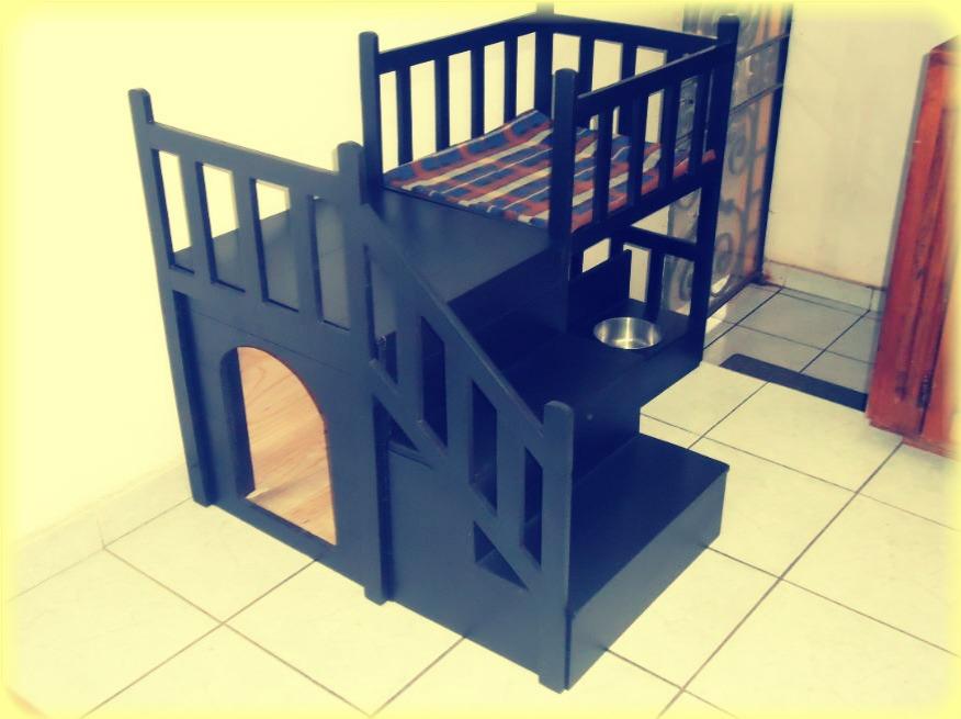 Casa cama para perros dos pisos mediana de lujo vbf - Mascotas en casa ...