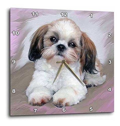 perros shihtzu  shih tzu cachorro  relojes de pared