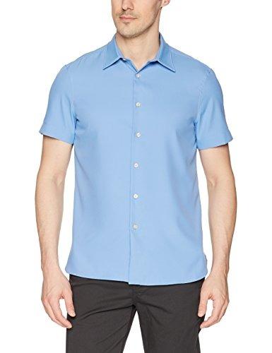 3f3021e1f6 Perry Ellis Camisa Elastica Total De Manga Corta Para Hombre ...