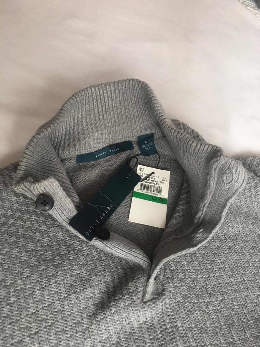 6ac4bd3da perry ellis sweater para caballero talla l color gris algodo. Cargando zoom.