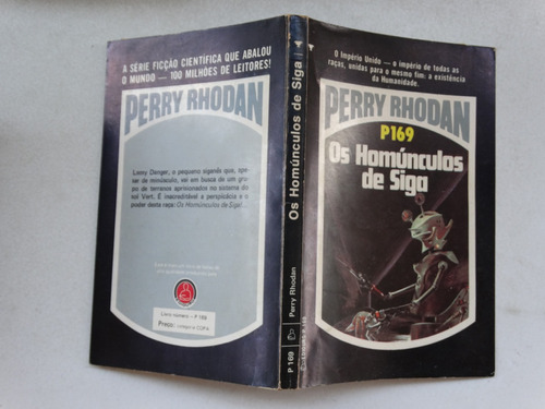perry rhodan n° p169! editora tecnoprint 1983!