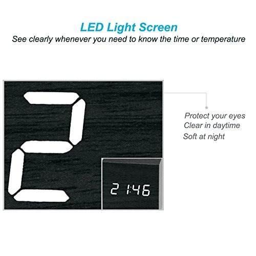 perrylee cubo de madera de madera digital led light desk !