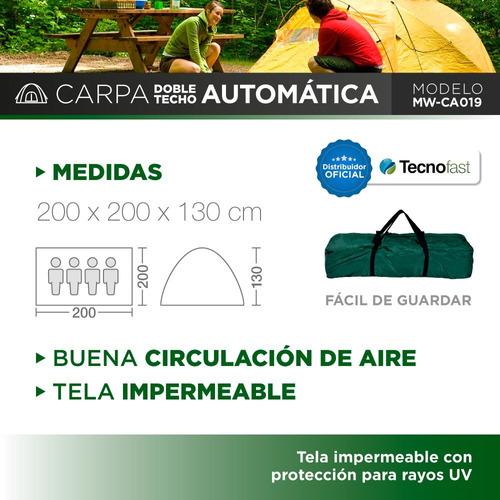 pers camping carpa
