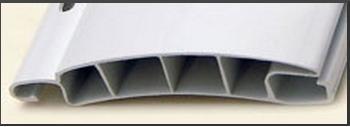 persiana / cortina plástica de enrollar, curva reforzada