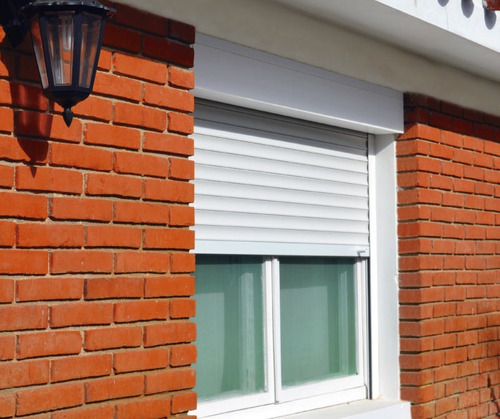 persiana de aluminio - blanca - sin albañilería - 120 x 100