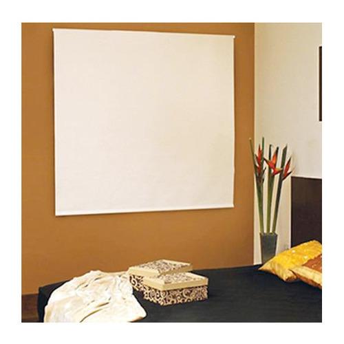 persiana enrolla blackout 1x1.8 m blanca reggia