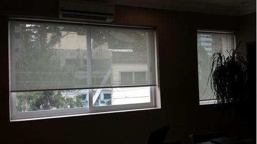 persiana enrollable en malla de control solar