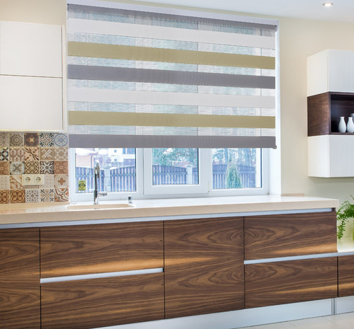 persiana enrollable sheer elegance 140x250cm instala fácil