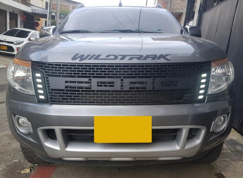 persiana ford ranger 2012 - 2016 tipo raptor luz leds