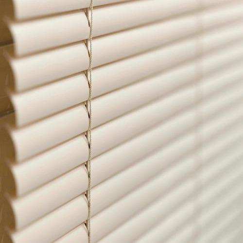 persiana horizontal pvc 25mm cortina 120 x 120 cm bege