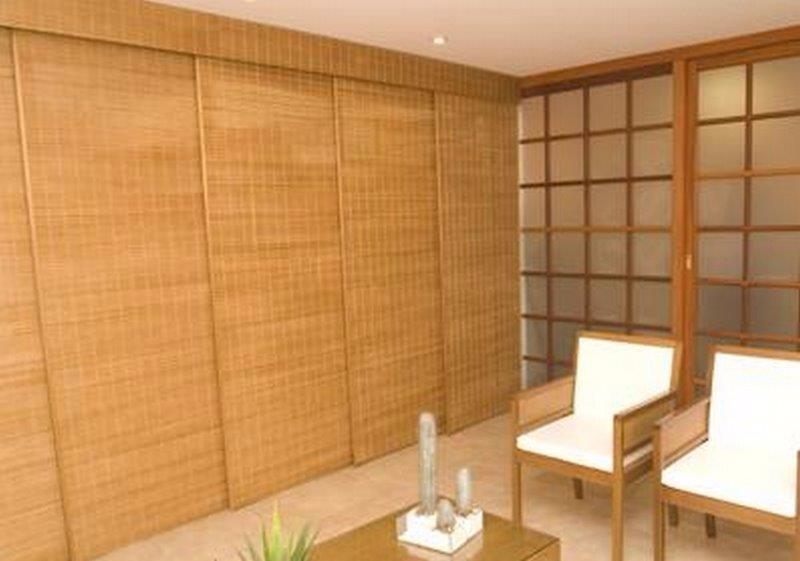 Persiana japonesa de madeira rolo ou painel r 380 00 - Cortinas tipo persiana ...