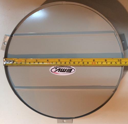 persiana movil 25 cm - para extractor de aire h4 - emv