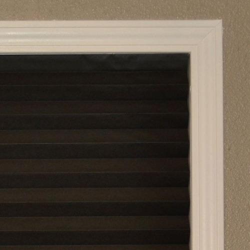 persiana plisada negra 1.22 x 1.8 m sombra  para interior