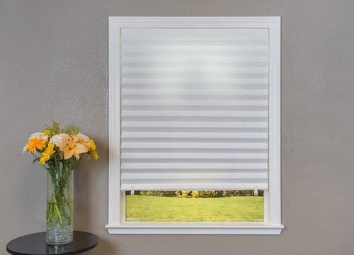 persiana plisada papel provisional 1.21x1.82 m para interior