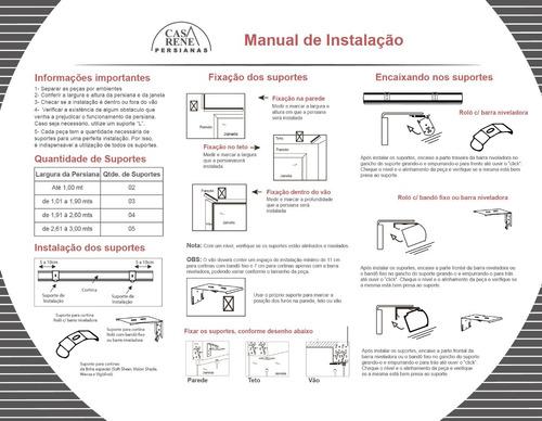 persiana rolô screen 1%-pronta p/ instalar+garantia 3 anos